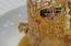 Piña cocida en pacharán con mousse de avellana